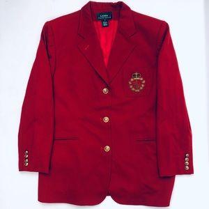 Vintage Ralph Lauren Crest Worsted Wool Blazer